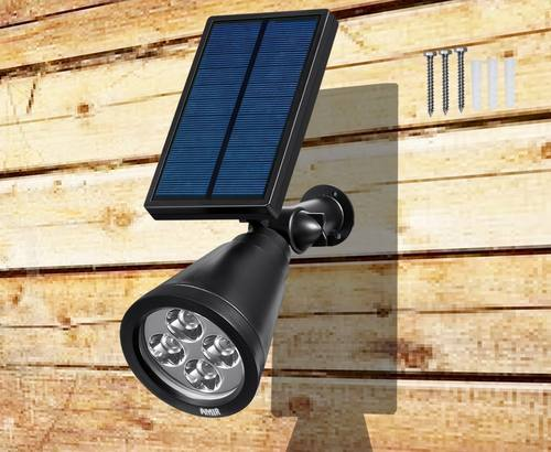 Top 10 best solar spot lights for outdoor in 2018 tpr9 reviews amir led solar spotlight mozeypictures Choice Image