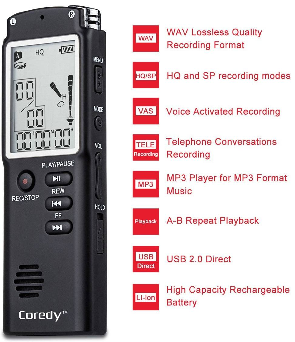 Coredy DGV-100M Professional HD Digital Voice Recorder
