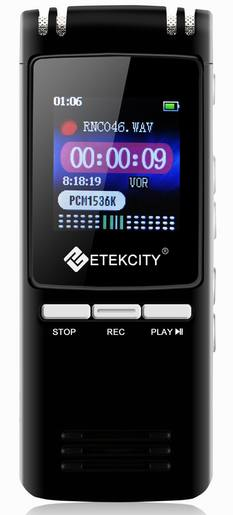 Etekcity Portable Voice Digital Audio Recorder