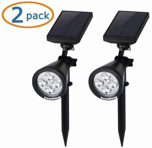 Top 10 best solar spot lights for outdoor in 2018 tpr9 reviews innogear solar powered led lighting aloadofball Image collections