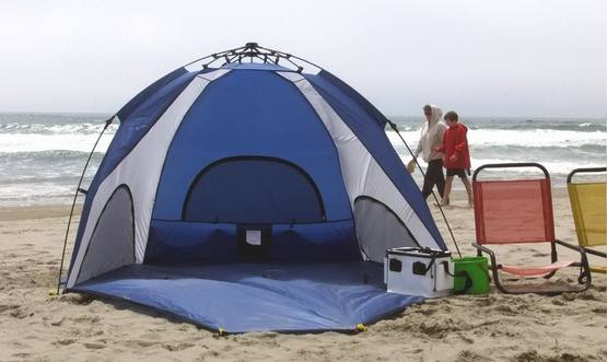 Genji Sports One-Step Instant Push Up Hexagon Beach Tent & Best Beach Tents To Buy In 2018 - TPR9 Reviews