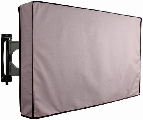 Grey Outdoor TV Cover Weatherproof Universal Protector