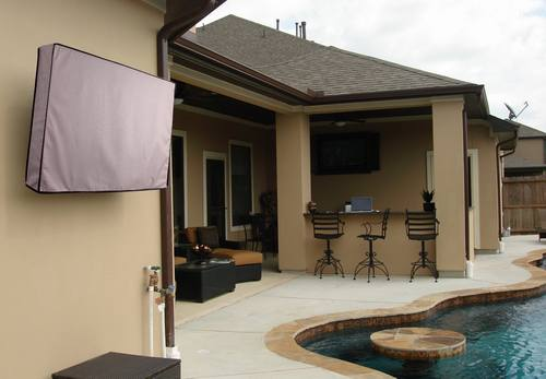 Outdoor TV Cover, Weatherproof Universal Protector