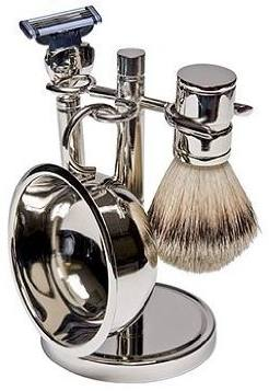 Harry D Koenig & Co 4 Piece Shave Set In Silver for Men