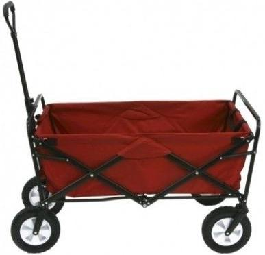 Kid's Red Wagon Pull-Along Outdoor Folding Utility Cart