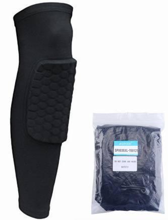 Strengthen Kneepad Honeycomb Pad Crashproof Antislip Basketball Leg Knee Long Sleeve