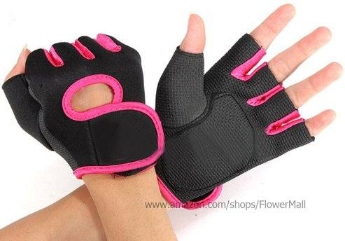 Hot GYM Weight-lifting Exercise Half-Finger Sport Cycling Fitness Gloves from Flowermall